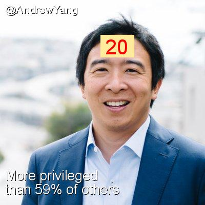 Intersectionality Score for @AndrewYang