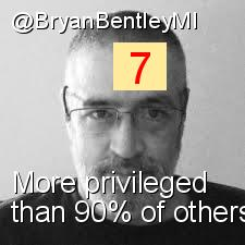 Intersectionality Score for @BryanBentleyMI