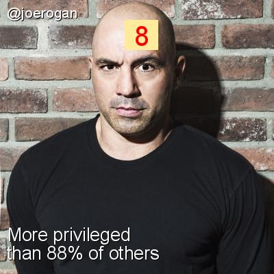Intersectionality Score for @joerogan