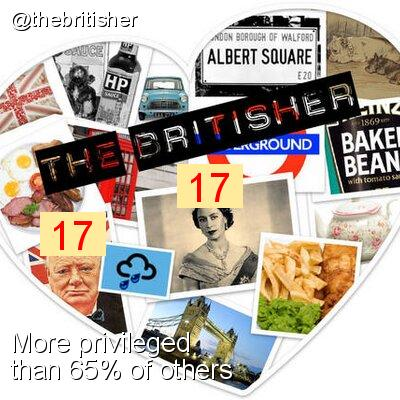 Intersectionality Score for @thebritisher